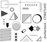 geometric patterns for fashion...   Shutterstock .eps vector #1758271445