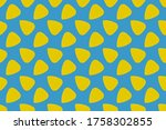 Yellow Pattern Of Triangles On...