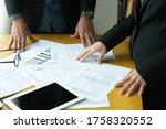 business teamwork working on...   Shutterstock . vector #1758320552