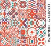 antique mexican talavera...   Shutterstock .eps vector #1758364955