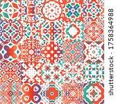 antique ornate tiles talavera...   Shutterstock .eps vector #1758364988