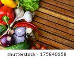 Fresh Vegetables And Olive Oil...