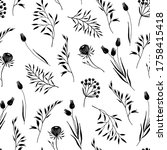 floral seamless pattern with... | Shutterstock .eps vector #1758415418