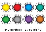 eight color buttons on a white... | Shutterstock .eps vector #175845542