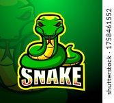 Green Snake Mascot Esport Logo...