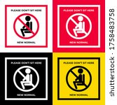 the label with people sit icon...   Shutterstock .eps vector #1758483758