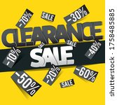 clearance sale banner  flyer or ... | Shutterstock .eps vector #1758485885