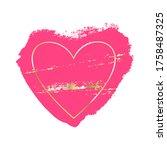 pink stain  golden brush...   Shutterstock .eps vector #1758487325