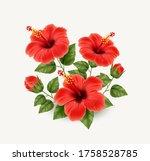 set of realistic beautiful... | Shutterstock .eps vector #1758528785