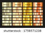 metal gradient. color set.... | Shutterstock .eps vector #1758571238