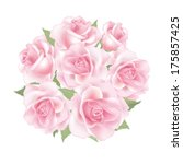 flower rose posy isolated on... | Shutterstock .eps vector #175857425