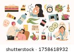 collection of skin care and... | Shutterstock .eps vector #1758618932