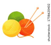 Balls Of Yarn With Knitting...
