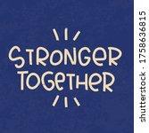 collaboration  teamwork or... | Shutterstock .eps vector #1758636815