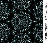 aboriginal dot painting mandala ... | Shutterstock .eps vector #1758638468