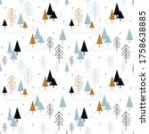 seamless pattern  in... | Shutterstock .eps vector #1758638885