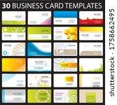 business card templates modern... | Shutterstock .eps vector #1758662495