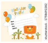 vector invitation for a... | Shutterstock .eps vector #1758692282