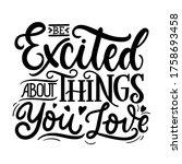 inspirational lettering poster...   Shutterstock .eps vector #1758693458