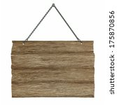 hanging old wood board | Shutterstock . vector #175870856