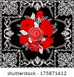 illustration with rose flowers... | Shutterstock .eps vector #175871612