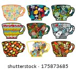 Collection Of Tea Cups With...