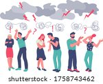 family conflict and... | Shutterstock .eps vector #1758743462