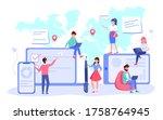 worldwide business... | Shutterstock .eps vector #1758764945