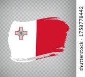 flag of malta from brush...