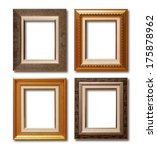 antique gold frame on the white ... | Shutterstock . vector #175878962