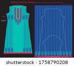 salwar kameez artwork for ready ... | Shutterstock .eps vector #1758790208
