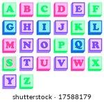 alphabet blocks   Shutterstock .eps vector #17588179