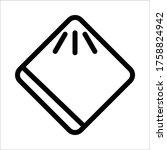 handkerchief icon mobile ui or...