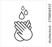 hand gel sanitizer vector label ... | Shutterstock .eps vector #1758836915