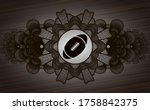 currency decoration rugby ball... | Shutterstock .eps vector #1758842375