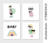 set of children's posters with...   Shutterstock .eps vector #1758853415