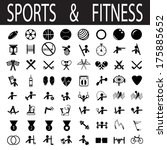 sports and fitness | Shutterstock .eps vector #175885652