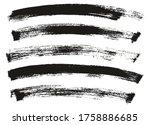 flat paint brush thin long... | Shutterstock .eps vector #1758886685