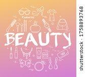 gradient banner of woman... | Shutterstock .eps vector #1758893768