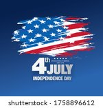fourth of july independence day ... | Shutterstock .eps vector #1758896612