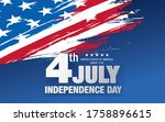 fourth of july independence day ... | Shutterstock .eps vector #1758896615