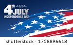 fourth of july independence day ... | Shutterstock .eps vector #1758896618