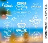 retro typography. summer travel ... | Shutterstock .eps vector #175890116