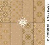 seamless elegant damask...   Shutterstock .eps vector #1758916298