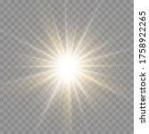 set of bright star. yellow... | Shutterstock .eps vector #1758922265