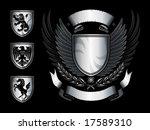 winged shield emblem | Shutterstock .eps vector #17589310