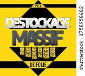destockage  french translation... | Shutterstock .eps vector #1758958682