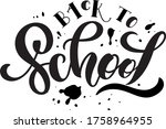 Back To School Handwritten Text ...