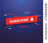 subscribe  bell icon. abstract...