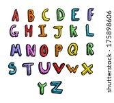 cartoon alphabet | Shutterstock . vector #175898606
